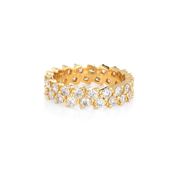 IF & Co Millo Enzo Diamond Eternity Ring 7 Estate 18k Gold Ben Baller Jewelry