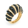 Onyx Fluted Gold Cocktail Ring