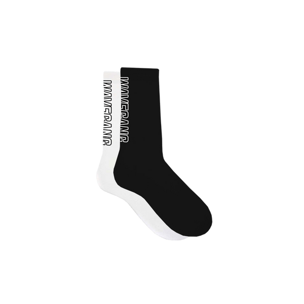 WAVEGANG Ital Premium Sport Socks - Black / White