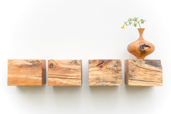 Cube Shelves - Spalted Maple set of 4