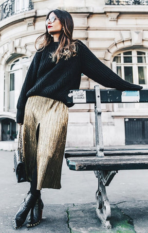 Why you NEED a metallic skirt.