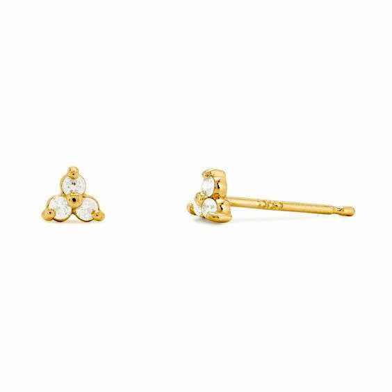 Lotus Stud Earring - Gold