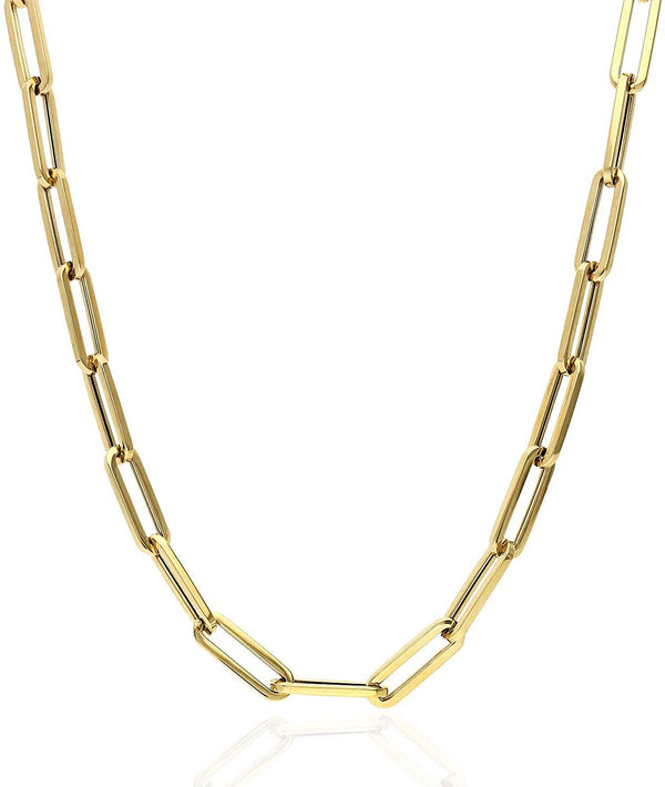 14k Plated Gold Capri Paperclip Necklace