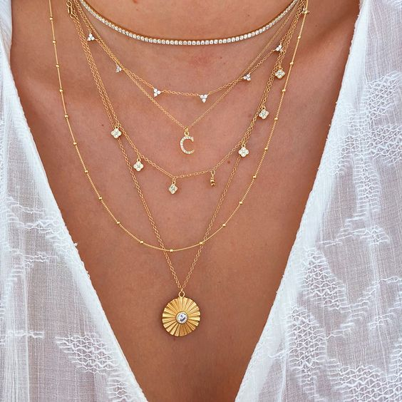 Mini Lotus Charm Necklace