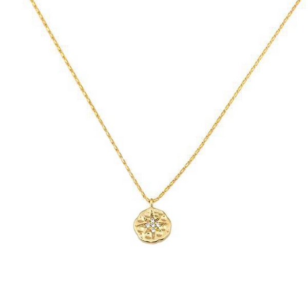 14k Gold Plated Victoria Star Necklace