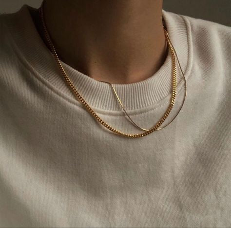 Minimalist Thin Chain Necklace - Made in Italy