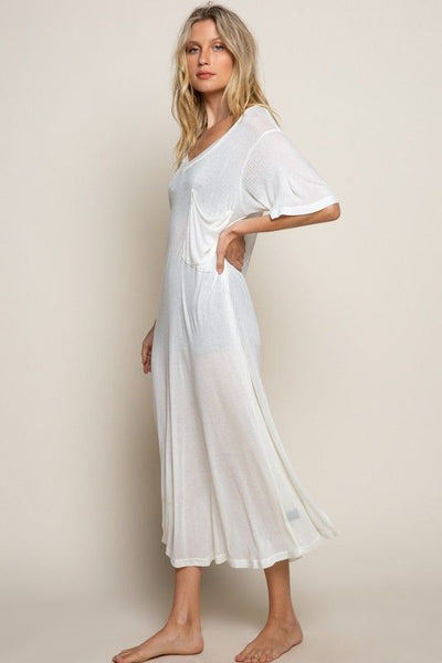 White Ovesize T-Shirt Dress