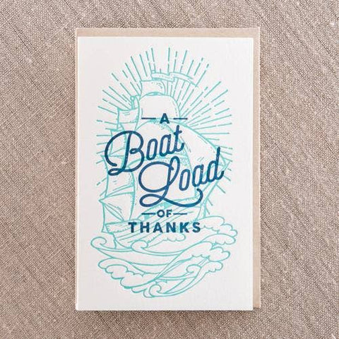 NEW! Boatload of Thanks Card