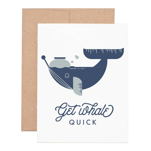"""Get Whale"" Sympathy Greeting Card"