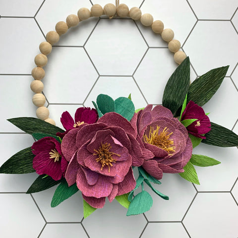 Flora Wreath in Berry - Fall Release