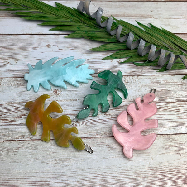 Autumn Leaf Barrettes