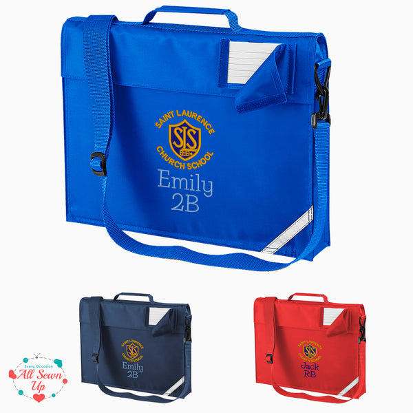 St Laurence Schools - Personalised Junior Book Bag with Strap