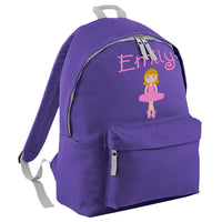 Dancer Embroidered Rucksack/PE bag