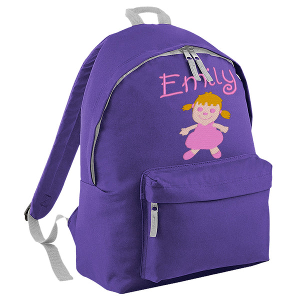 Embroidered Rucksack - Rag Doll