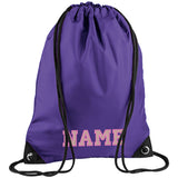 Athletic Text Embroidered Rucksack/PE bag