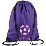 Football Printed Rucksack/PE bag