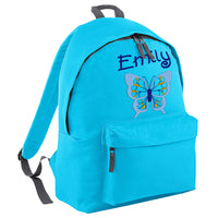 Embroidered Rucksack - Butterfly