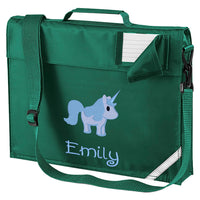 Embroidered Bookbag with strap- Unicorn