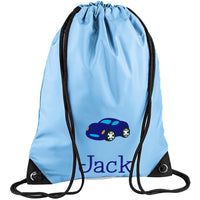 Embroidered PE Bag - Car
