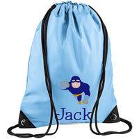 Embroidered PE Bag - Super Hero (Flying)