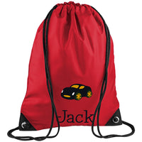 Strapped Book Bag - Car