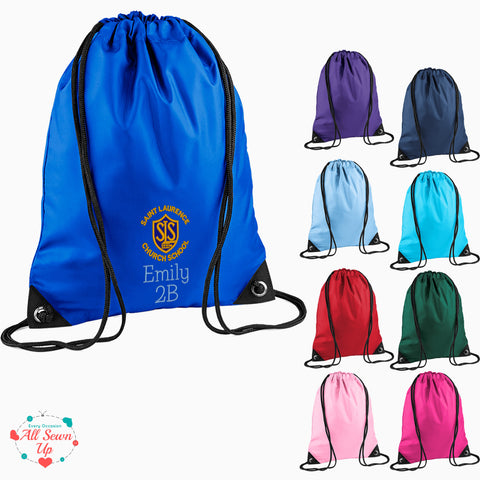 St Laurence Schools -  Embroidered PE bag