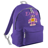 Robot Embroidered Rucksack/PE bag