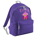 Embroidered Rucksack - Super Hero (Standing)