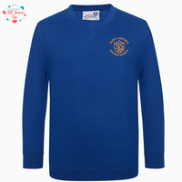 St Laurence Schools - Royal Blue V-Neck Jumper
