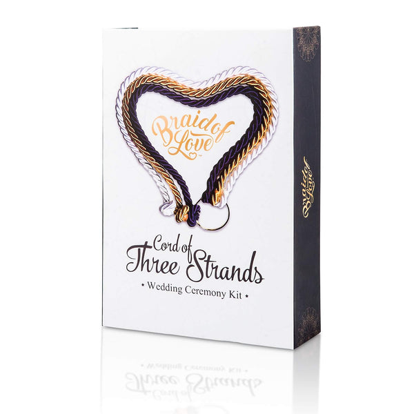 a cord of three strands wedding ceremony kit with detachable cross