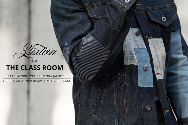 3sixteen for The Class Room Patchwork Type 3s Denim Jacket