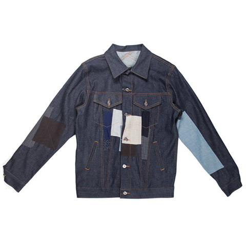 3sixteen Patchwork Type 3s Denim Jacket - TCR 5 Year Limited Release - The Class Room boutique