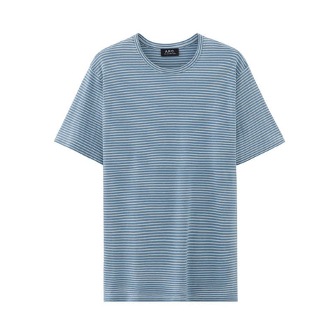 A.P.C. Classic Jersey T-shirt - Indigo-Dyed Light Blue - The Class Room boutique