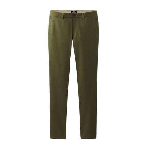 A.P.C. Pocket Chino - Khaki (Olive) Cotton Gabardine - The Class Room