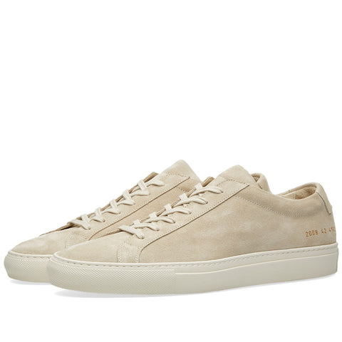 Common Projects Original Achilles Low in Suede - Off White - The Class Room boutique