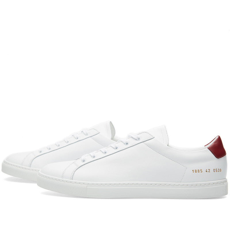 Common Projects Achilles Retro Low - White / Burgundy - The Class Room boutique