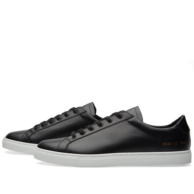 Common Projects Achilles Retro Low in Boxed Leather - Black - The Class Room boutique