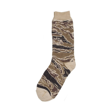 Anonymous Ism Camo Pile Crew Sock - Tiger Camo - The Class Room boutique
