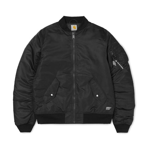 Carhartt WIP Ashton Bomber Jacket - Black - The Class Room boutique