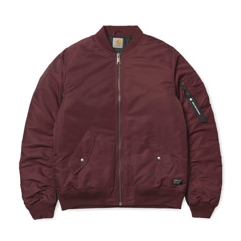 Carhartt WIP Ashton Bomber Jacket - Chianti / Black - The Class Room boutique