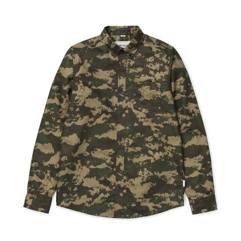Carhartt WIP LS Camo Painted Shirt - Green (rinsed) - The Class Room boutique