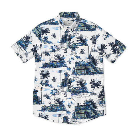 Carhartt WIP S/S Homerun Buttondown Shirt - White - The Class Room