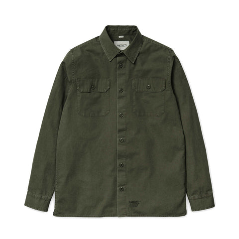 Carhartt WIP LS Mission Shirt - Rover Green (stone washed) - The Class Room boutique