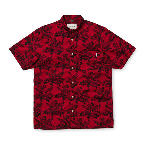Carhartt WIP S/S Ron Ghetto Palm Buttondown Shirt - Alabama/Dark Navy - The Class Room