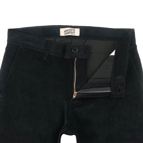 Naked & Famous Slim Chino - 2-way Stretch Corduroy Black - The Class Room boutique