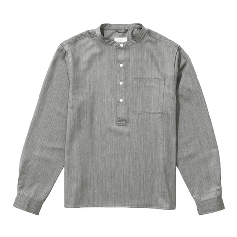 Saturdays NYC Dimitri Wool Popover Shirt - Ash Heather - The Class Room boutique