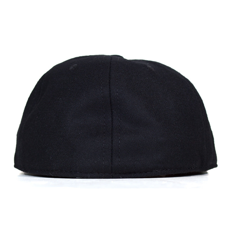 Ebbets Field Flannels TCR Houston Classic Fitted Cap - Black Wool - The Class Room boutique