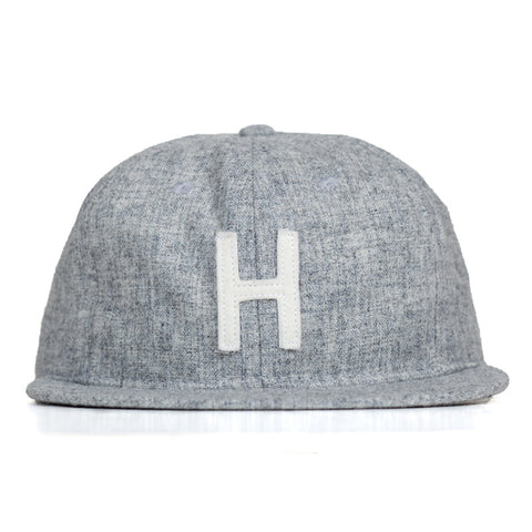 Ebbets Field Flannels TCR Houston Classic Fitted Cap - Heather Grey Wool - The Class Room boutique