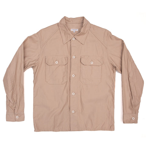Engineered Garments Field Shirt - Khaki Reversed Sateen - The Class Room boutique