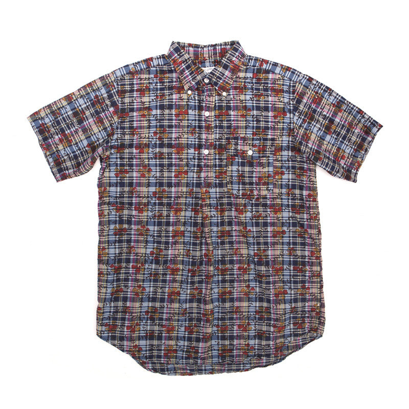 Engineered Garments Popover BD - Dk. Navy Floral Printed Madras - The Class Room boutique